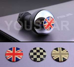 Us Stock Chrome Weighted Gear Knob For Mini Cooper S Jcw Union Jack R56 F56 R53