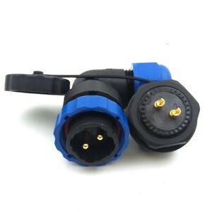 Sd20 2 Pin Waterproof Connector Industrial Bulkhead Power Cable Connectors 25a