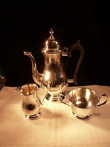 Antique Frank Whiting Sterling Silver Coffee Pot Creamer Sugar Service George Ii