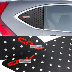 C Pillar Window Glass Sports Plate Molding Red Logo For Honda 2012 2016 Cr v