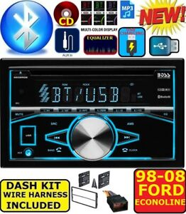 F150 Navigator Expedition Econoline Van Car Stereo Radio Cd Bluetooth Double Din