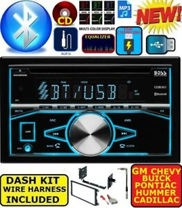 Fits Chevy Gmc Truck Van Suv Cd Bluetooth Usb Radio Stereo Double Din Dash Kit