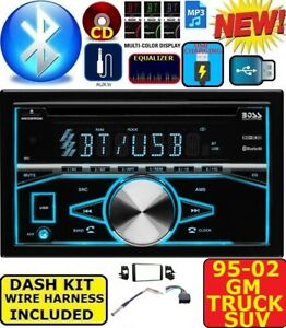95 02 Gm Truck suv Cd Usb Aux Bluetooth Double Din Car Stereo Radio