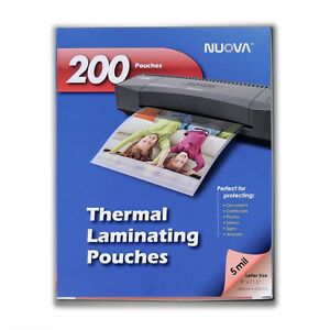 Nuova 200 pack 5 Mil Thermal Laminating Pouches 9 X 11 5 Inches Letter Size