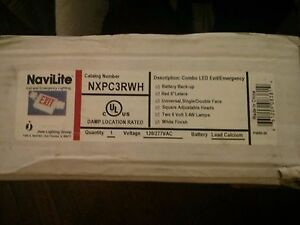 Juno Navilite Nxpc3rwh Combo Led Exit emergency 120 277vac Two 6v 5 4w No Tax