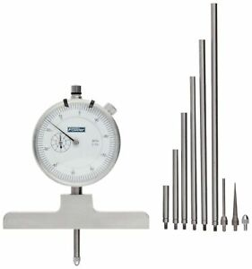 Fowler Full Warranty Steel X series Depth Gauge With Satin Chrome Finish 52 125