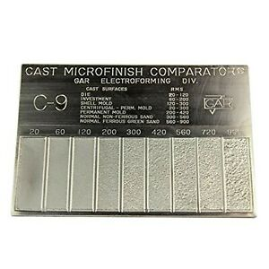 Brand New Gar Surface Roughness Scale C 9 Cast Microfinish Surface Comparator