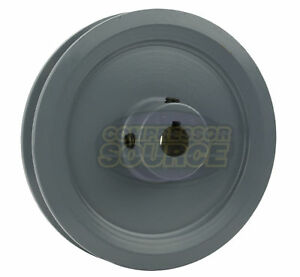4 5 Cast Iron 5 8 Shaft Pulley Sheave Single 1 Groove V Style A Belt 4l New