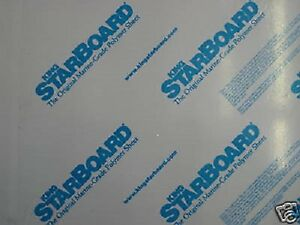 1 2 X 24 X 27 White King Starboard Polymer Hdpe Marine Board Free Shipping