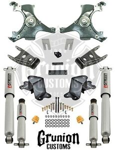 Chevy Silverado 1988 1998 2 4 Lowering Drop Kit W Performance Shocks Belltech