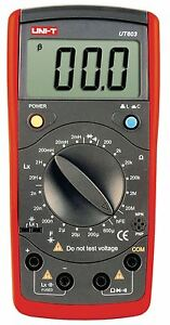 Uni t Lcr Meter 20 M Ohm 0 6 Mf 20 H Inductance And Capacitance Meter