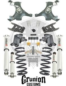 Chevy Silverado 88 98 1 2 Ton 3 4 Lowering Kit W Performance Shocks Belltech