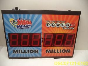 Mega Millions Powerball Electric Lighted Display Sign Model Pl nyl r18r2b05