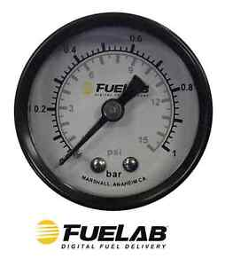 Fuelab 0 120 Psi 0 8 Bar 1 5 In Analog Fuel Pressure Gauge 71511