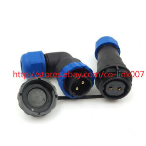 Sd20 2pin Waterproof Connector Ip68 Aviation Solder Wire Power Cable Connector