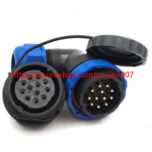 Sd28 12pin Waterproof Connector ip67 Aviation Bulkhead Connector Plug Socket 10a