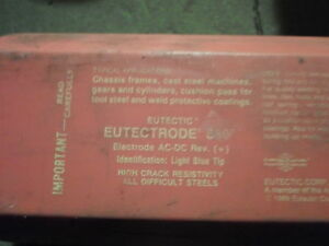 10 Lbs 1 4 Eutectic Eutectrode 680 Electrodes Pkg Opened Still Has 10 Lb