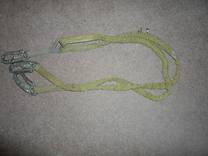 Used Lanyard 2 Legged 5 Ft Long Fall Protection Safety