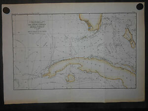 Florida Great Bahama Bank Andros Island Cuba Gulf Stream Currents 1890 Map H Col