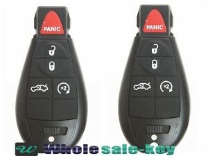 2 New Keyless Entry Remote Car Key Fob Iyz C01c For Dodge Charger 2008 2013