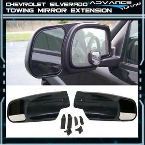 For 07 13 Silverado Oe Factory Style Side View Towing Mirror Extension Pair