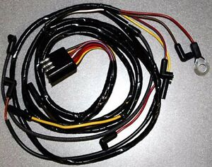 New 1966 Ford Mustang Under Hood Wire Wiring Gauge Feed Usa Made