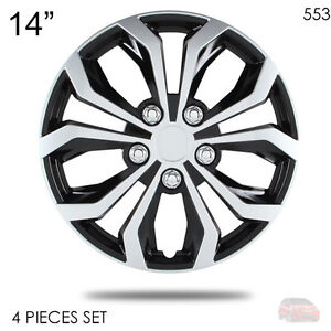 For Honda New 14 Abs Silver Rim Lug Steel Wheel Hubcaps Cover 553