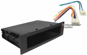Complete Car Stereo Radio Install Pocket Trim Dash Kit Wiring Harness For Toyota