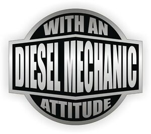 Diesel Mechanic With An Attitude Toolbox Decal Tool Box Sticker Vinyl Label