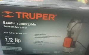 Truper Bos 1 2m Submersible Pump 1 2 Hp