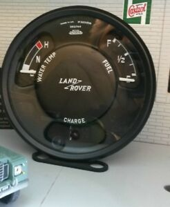 Land Rover Series 2a 3 Jaeger Smiths Fuel Temp Gauge Panel Complete Feo 555834