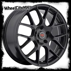 18 X8 Black Revolution Racing R6 Wheels Ford Fusion Mustang Edge Taurus 5x4 5