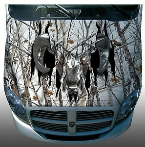 Ripped Ram Snow Winter Camouflage Hood Wrap Wraps Sticker Vinyl Decal Graphic
