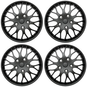 4 Piece Set Hub Caps Matte Black 14 Inch Wheel Covers For Oem Rims Cover Cap