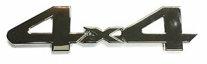 X1 New Chrome 4x4 Emblem Decal Badge Repalce Oem Toyota Tundra Tacoma Rav4