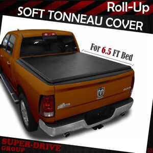 Roll Up Tonneau Cover For 2009 2018 Dodge Ram 1500 2500 3500 6 5 Ft 78 Bed
