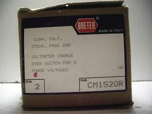 New Nib Qty Breter Box Of 2 Cm1520r Voltmeter Change Over Switch 3ph