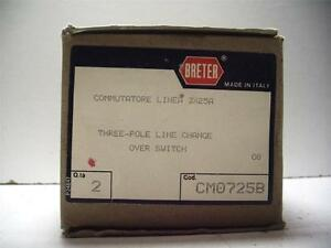 New Nib Qty Breter Box Of 2 Cm0725b Three pole Line Change Over Switch