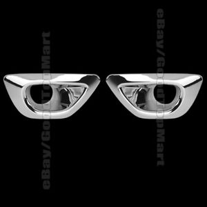 For 2014 2015 2016 Jeep Grand Cherokee 2 Chrome Front Fog Lamp Lights Covers