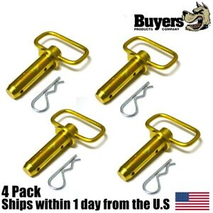 4 1 Heavy Duty Hitch Pins W Hairpin Cotter Fits Western Unimount Snow Plows
