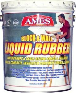 Ames 5 Gallon Bwrf5 Block Wall Liquid Rubber Waterproofing Basement Coating