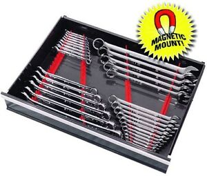 Ernst 6014m Red Space Saver 40 Tool Wrench Organizer Rail Kit W Magnet Mount