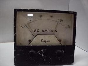 Simpson Electric 3344 D21637 Dual Set Point Ac Meter 250vac Tested