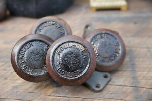 Rare Set 4 Heavy Antique Cast Iron Roll Over Creeper Swivel Industrial Casters