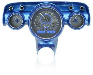 Dakota Digital 1957 Chevy Car Analog Gauges Carbon Fiber Blue Vhx 57c C B