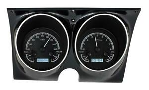 Dakota Digital 67 68 Chevy Camaro Analog Gauges Black White Vhx 67c Cam K W