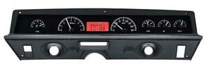 Dakota Digital 71 76 Chevy Impala Analog Gauges Black Red Vhx 71c Cap K R