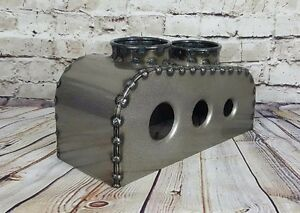 Bomber Hot Rod Rat Rod Seats Center Console Clear Powdercoat