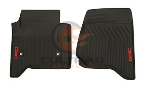 2015 2019 Gmc Yukon Genuine Gm Front All Weather Floor Mats Black 23452756
