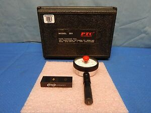 Ptc Instruments 201 Type A Pencil Style Durometer With Case And Test Bar Mint